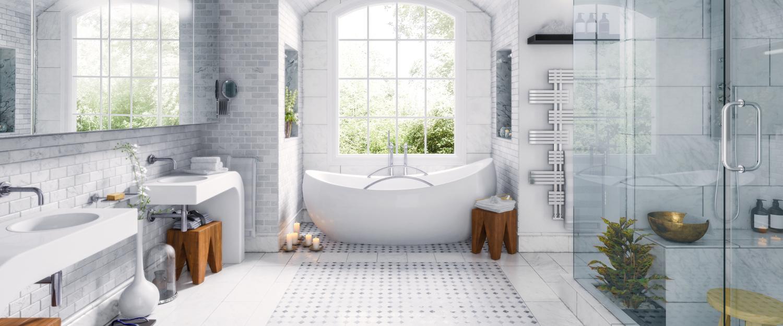 Altbausanierung I Fußbodenheizung im alten Bad